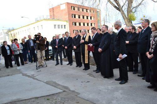 Otvorenie budovy katolíckej Charity v Gyor